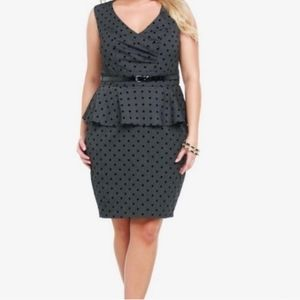 Torrid Peplum Polka dot dress size 14